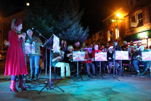 Call the Ukulele Brigade! Sam Brown and her orchestra are on fire in Falaise Square!