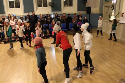 Snowfall does not mean frosty reception for festive dancers