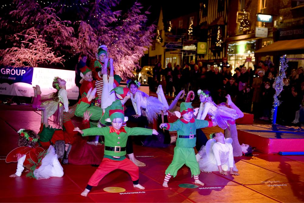Market Place transformed into festive gymnasium